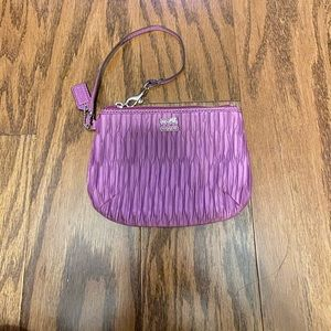 Coach Purple Wristlet